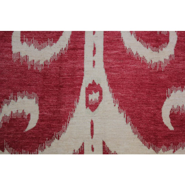 "Contemporary Hand Knotted Ikat Rug - 14'2"" X 10'1"" For Sale - Image 3 of 4"
