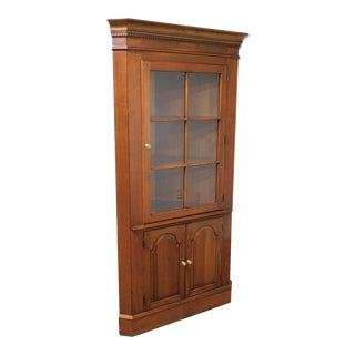 Vintage Solid Cherry Traditional Corner Cabinet For Sale