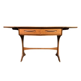 "1960s Mid Century Modern G Plan Teak ""Fresco"" Drop Leaf Table Console For Sale"
