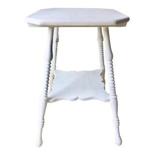 Antique Spool Leg Table For Sale