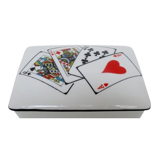 Porcelain Card Box For Sale