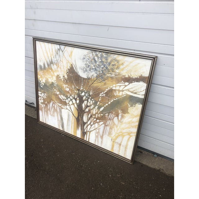 Estate find. Very unique and interesting abstract painting. Has the texture effect as well. Signed at bottom corner as...