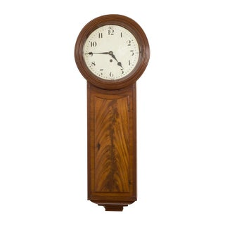 19th Century Regency Mahogany Tavern Clock For Sale