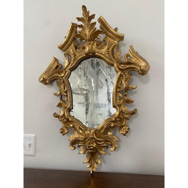 Antique 19th Century Italian Baroque Gilt Mirror For Sale - Image 13 of 13