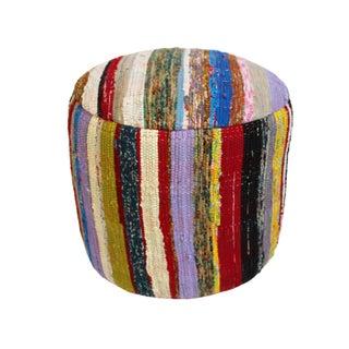 Boho Chic Sari Rug Stool For Sale