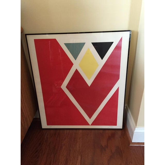 Larry Zox Diamond Drill Scarlet Serigraph For Sale In Baltimore - Image 6 of 6