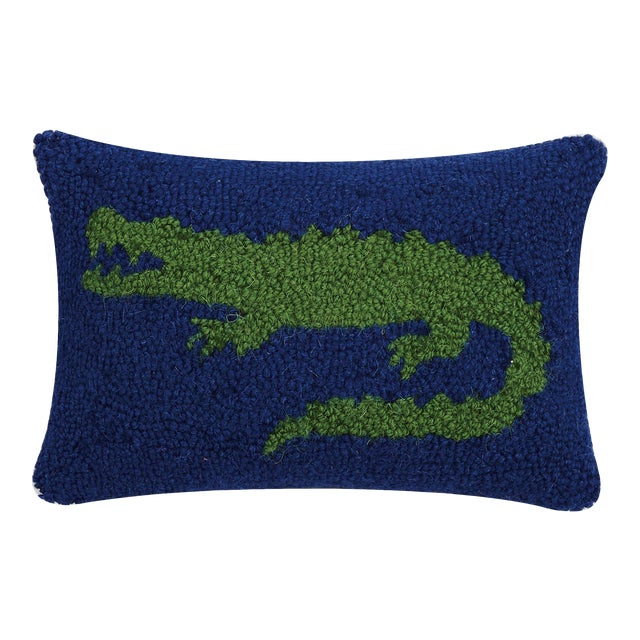 "Alligator Hook Pillow, 8"" x 12"" For Sale"