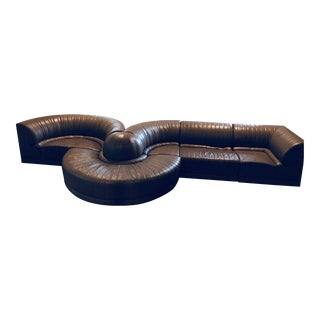 Roche Bobois Leather Sectional Sofa