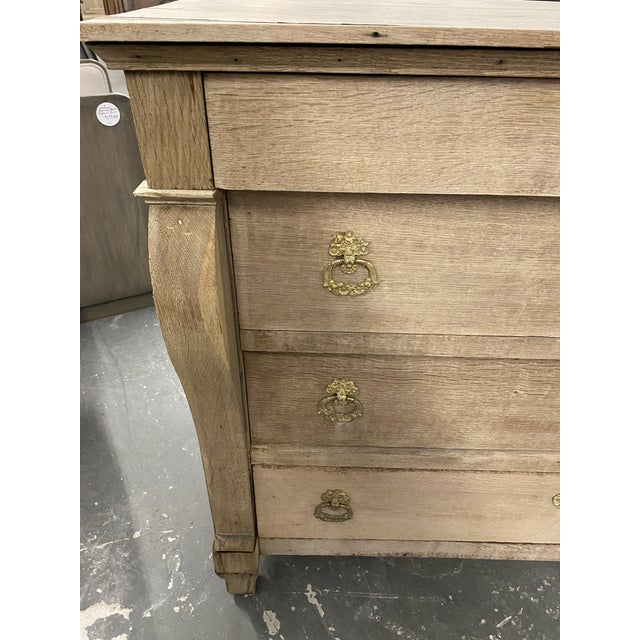 1850s French Empire Bleached Commode For Sale - Image 4 of 10