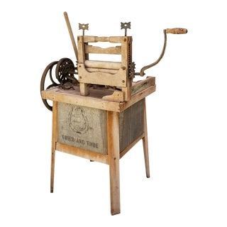 Early 1900's Mechanical Washing Maching Tried & True For Sale