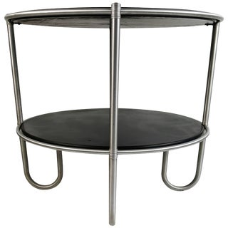 "Warren McArthur ""J"" Leg Art Deco Center Table For Sale"