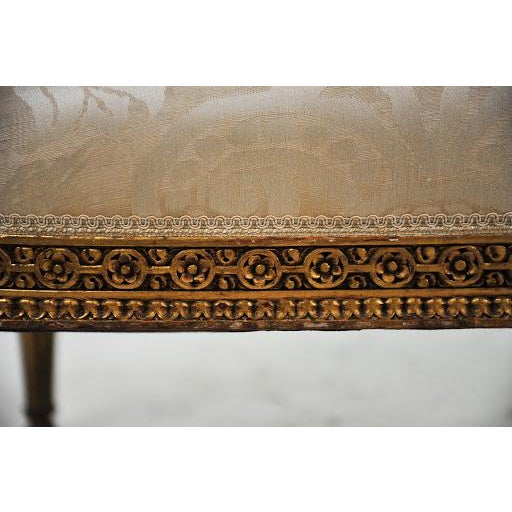 Louis XVI Gilded Settee For Sale - Image 9 of 11