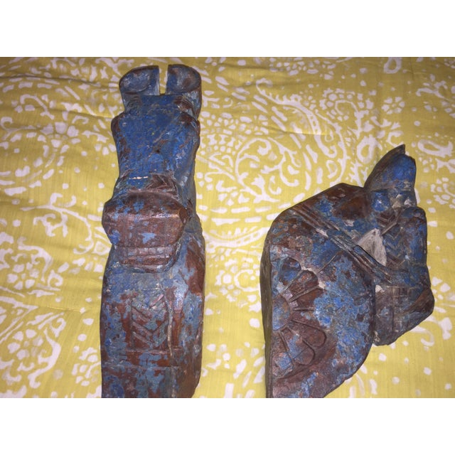18th Century Rajput Horse Heads - a Pair - Image 3 of 11