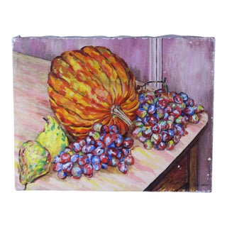 Fall Still Life Oil Painting by Ede-Else For Sale