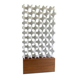 Sculpta-Grille Screen on Walnut Base by Richard Harvey, 1960's For Sale