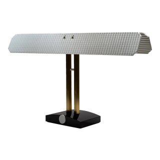 """Porcelain and Brass """"Capalonga"""" Desk Lamp by Afra & Tobia Scarpa for Flos, 1982 For Sale"""