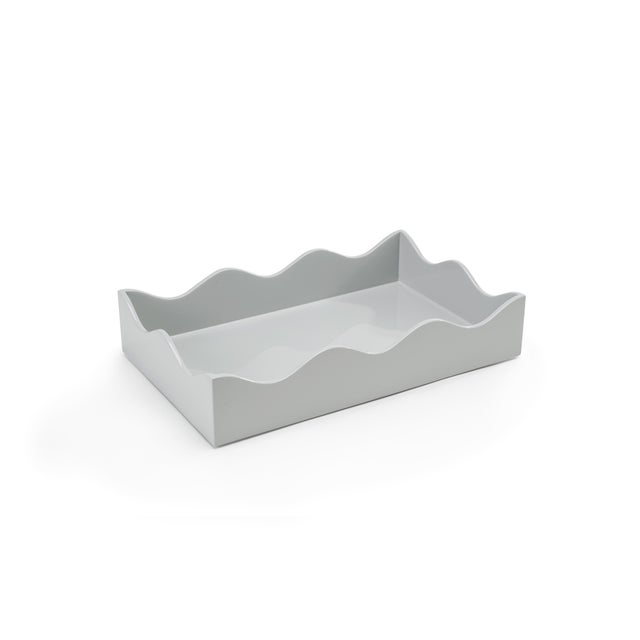 Not Yet Made - Made To Order Rita Konig Collection Medium Belles Rives Tray in Pale Grey For Sale - Image 5 of 5