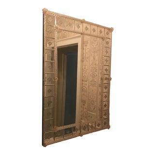 Antique 1900s Venetian Glass Mirror For Sale