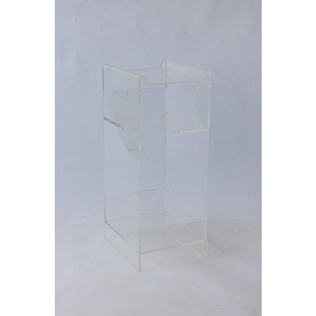 Vintage Lucite Side Table / Plant Stand - Image 2 of 4