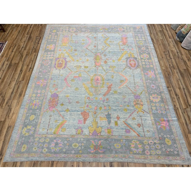 This is a lovely, super fine Turkish Oushack, 100% wool with all natural dyes, hand knotted, will make a nice statement...