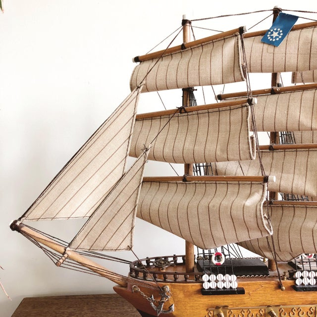 "American Vintage Model Ship ""uss Constitution"" For Sale - Image 3 of 8"