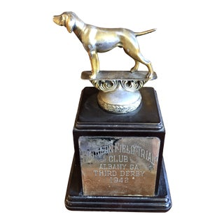 1940s Bronze Pointer Trophy For Sale