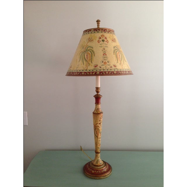 Bradburn Gallery Hand-Painted Lamp - Image 2 of 4