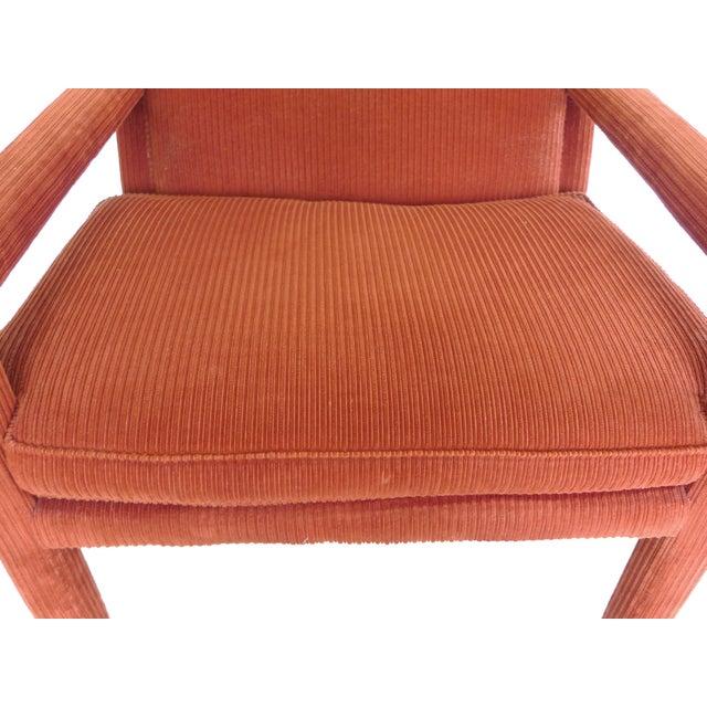 1970s Milo Baughman-Style Corduroy Armchair - Pair For Sale - Image 9 of 10