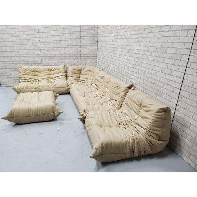 Ligne Roset Mid Century Medern Togo Sofa Set by Michel Ducaroy for Ligne Roset - 5 Piece Set For Sale - Image 4 of 11