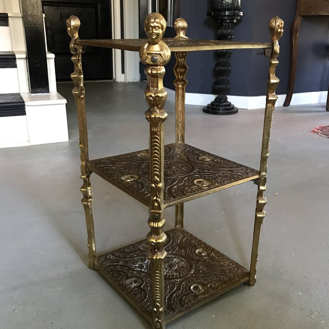 Victorian Style Three Tier Side Table Shelf - Image 2 of 5