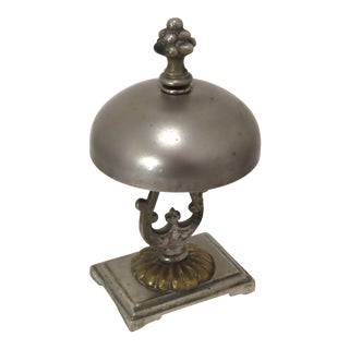 Unusual Ring Style Antique Victorian Bronze Front Desk Bell For Sale