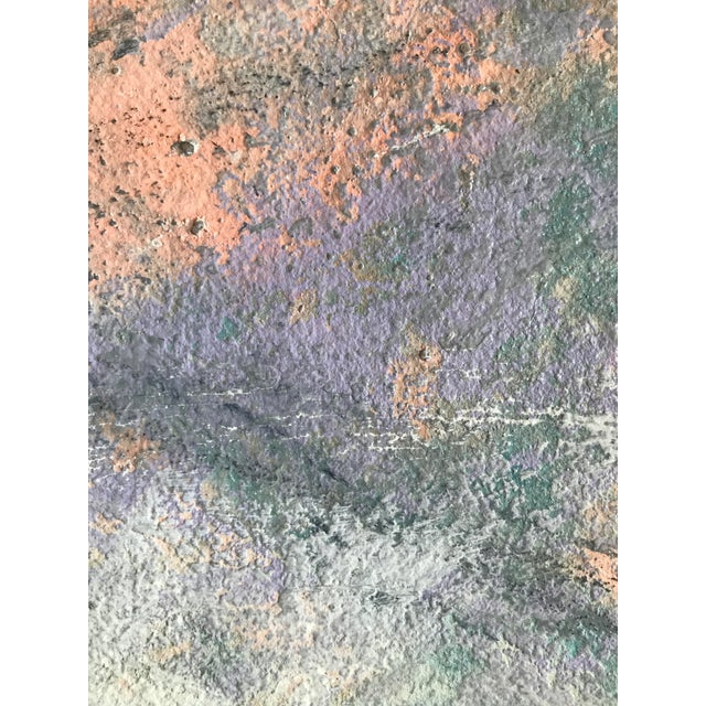 """Abstract 1980s Abstract Painting With Pencil Female Bay Area Artist """"Ashland Ducks Xvii"""" For Sale - Image 3 of 7"""