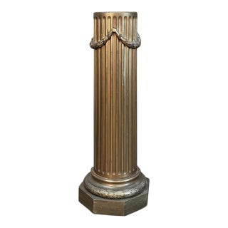 19th Century French Louis XVI Neoclassical Giltwood Pedestal For Sale