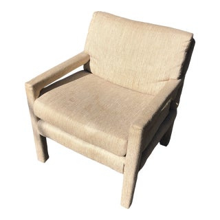 Vintage Parsons Upholstered Accent Chair For Sale