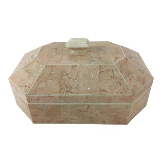 Maitland-Smith Tessellated Marble Dresser Box