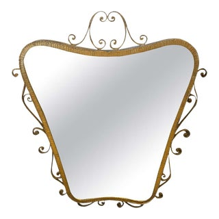 1950s Italian Mid-Century Modern Pier Luigi Colli Shaped Wall Mirror For Sale