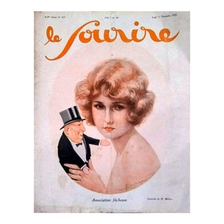 """M. Millierie 1926 """"Association Facheuse"""" Le Sourire Cover Print For Sale"""