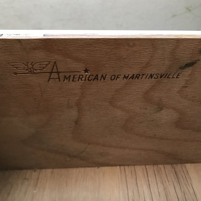 Wood American of Martinsville Pecan Credenza For Sale - Image 7 of 9