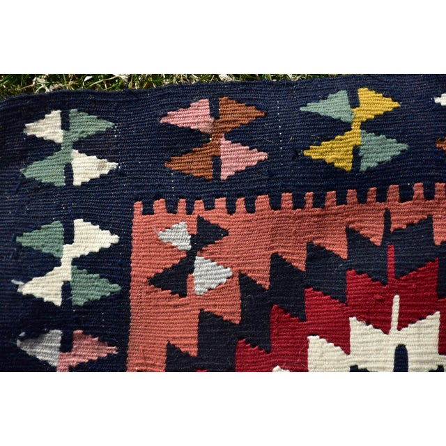 Terra Cotta Vintage Hand Knotted Traditional Southwestern Style Anatolian Kilim Rug For Sale - Image 8 of 13