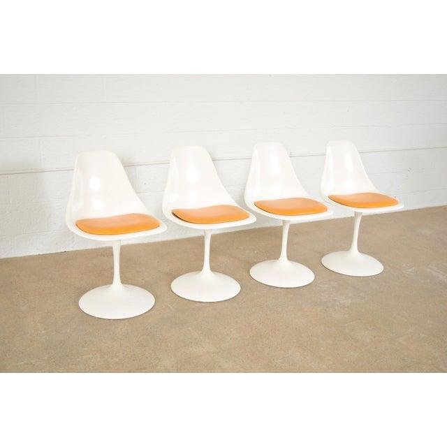 Mid-Century Saarinen Style Tulip Pedestal Dining Set - Set of 5 - Image 8 of 11