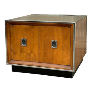 1970's Mid-Century Modern Walnut Cabinet For Sale