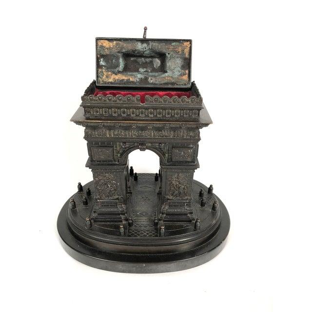 Late 19th Century 19th Century Grand Tour Bronze Architectural Model of the Arc De Triomphe, Paris For Sale - Image 5 of 12