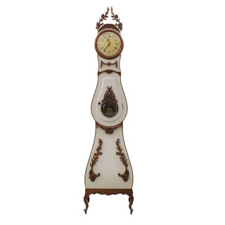 Vintage Swedish Rococo Mora Clock For Sale