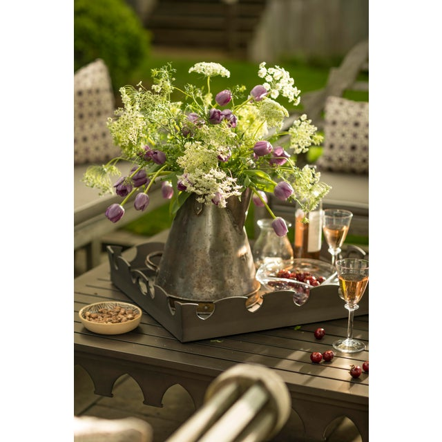 American Oomph Ocean Drive Outdoor Tray, White For Sale - Image 3 of 7