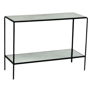 The 'Rectiligne' Narrow Mirrored End Table For Sale