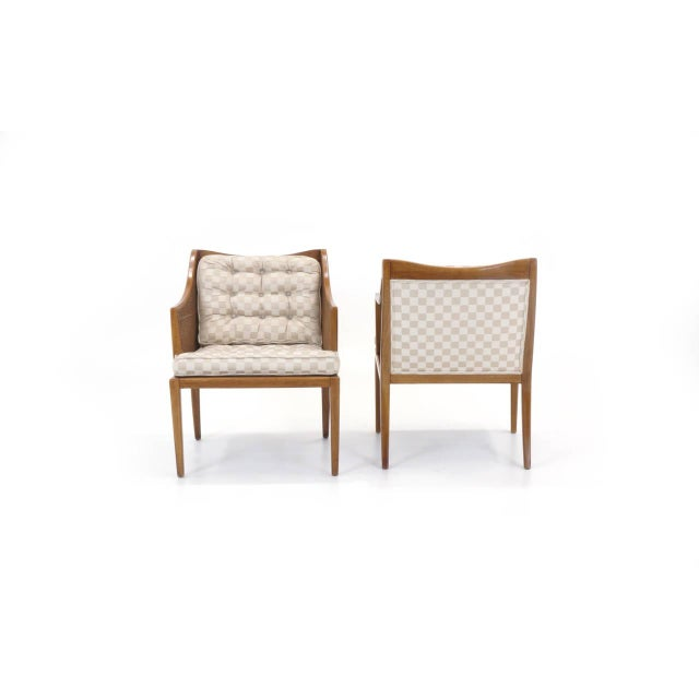 1950s Pair of T. H. Robsjohn Gibbings for Widdicomb Arm Chairs For Sale - Image 5 of 10