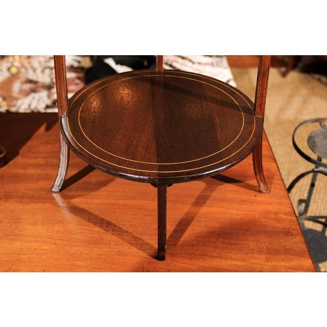 Brown Regency Three-Tier Dessert Stand For Sale - Image 8 of 9