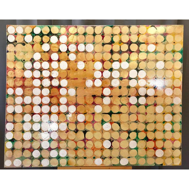 """A monumental 2004 Maximalist or Abstract Expressionist painted work on canvas titled """"Fruit Farm"""" by Seattle-based..."""