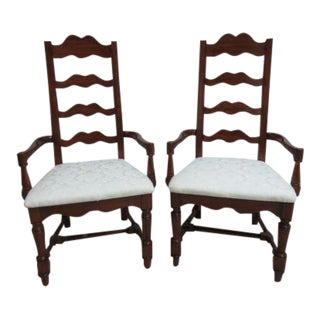 Pennsylvania House Cherry Ladderback Dining Chairs - a Pair For Sale