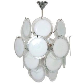 Gino Vistosi Murano Glass Chandelier For Sale